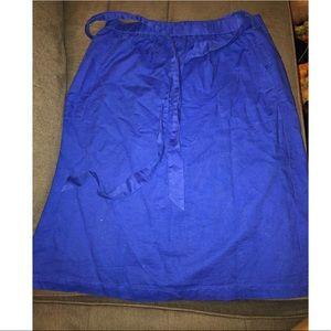 J. Crew knee length royal blue skirt